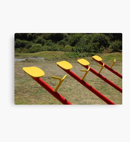 Playground Equipment Canvas Print