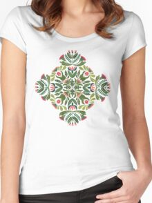 Little red riding hood - mandala pattern Women's Fitted Scoop T-Shirt