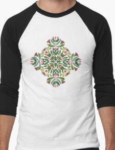 Little red riding hood - mandala pattern Men's Baseball ¾ T-Shirt