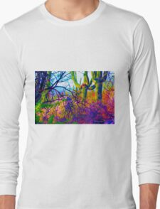 Psychedelic Cactus Tangle Long Sleeve T-Shirt