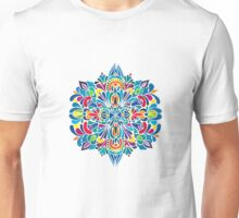 Caribbean inspired  watercolor mandala pattern -BLACK Unisex T-Shirt