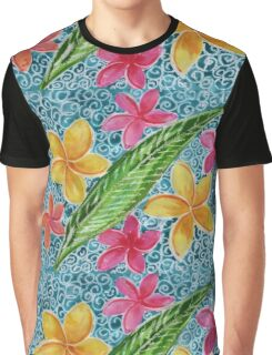 Plumeria Pool Graphic T-Shirt
