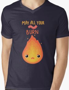 May all your bacon burn. Mens V-Neck T-Shirt
