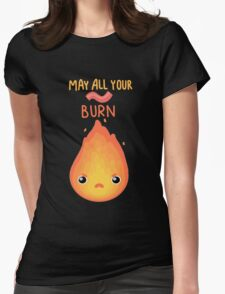 May all your bacon burn. Womens Fitted T-Shirt