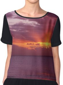 Let the new day lift your spirits to the sky Chiffon Top