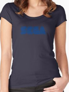 sega logo game Women's Fitted Scoop T-Shirt