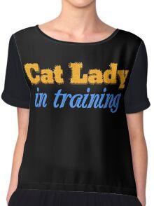 Cat Lady in Training Chiffon Top