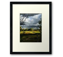 Fenced in Beauty Framed Print