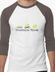 Triathlon Chick Men's Baseball ¾ T-Shirt