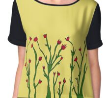 Tall Flowers Chiffon Top