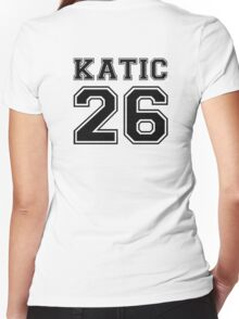 Katic #26 Women's Fitted V-Neck T-Shirt