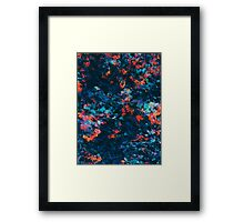 Abstract Paint Edit of Small Flowers Framed Print