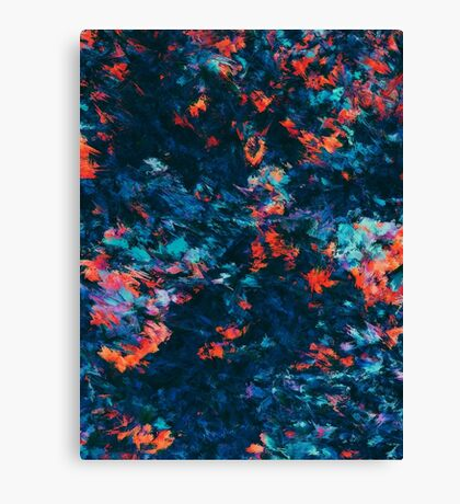 Abstract Paint Edit of Small Flowers Canvas Print