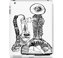 Skeleton Antique Phone with decapitated head as earpiece iPad Case/Skin