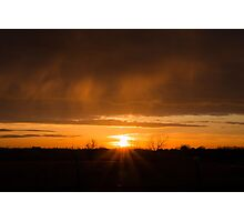 Beaming Sunset Photographic Print