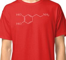Dopamine - White - For Dark Backgrounds Classic T-Shirt