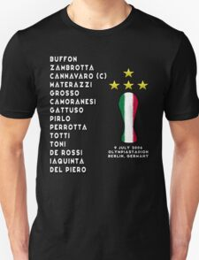 Italy 2006 World Cup Final Winners Unisex T-Shirt