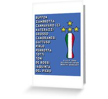 Italy 2006 World Cup Final Winners Greeting Card