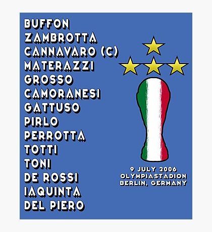 Italy 2006 World Cup Final Winners Photographic Print