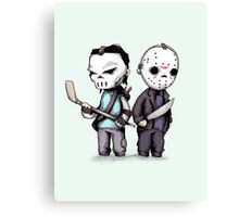 Hockey Mask Buddies Canvas Print