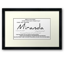 Planet Miranda Framed Print