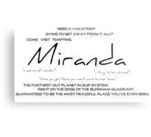 Planet Miranda Metal Print