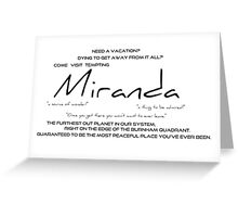 Planet Miranda Greeting Card