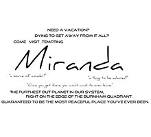 Planet Miranda Photographic Print