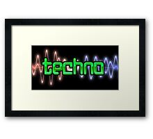 Techno Wave Framed Print