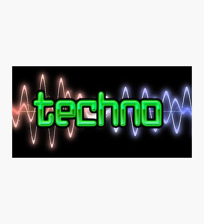 Techno Wave Photographic Print
