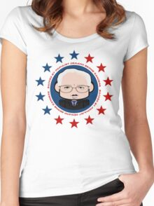 Backed by Populist Demand: Bernie Sanders 2.0 Women's Fitted Scoop T-Shirt