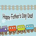 Happy Father's Day Train by Susan S. Kline