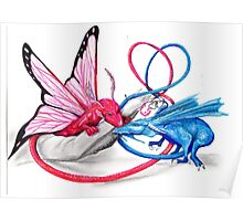 Pink and Blue dragons- Romeo and Juliette Poster