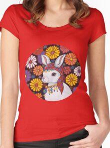 Rosetta, travelling Dancer Women's Fitted Scoop T-Shirt