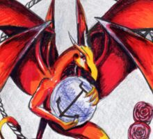 The Fire Dragon and the elements Sticker