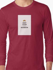 Keep Calm Rainbow Long Sleeve T-Shirt