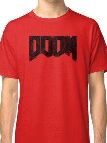 DOOM (DOOM 4) : DEMON WEATHERED LOGO TEE Classic T-Shirt