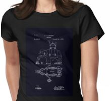 Antique Art Nouveau age Indian elephant building blueprint patent drawing Womens Fitted T-Shirt