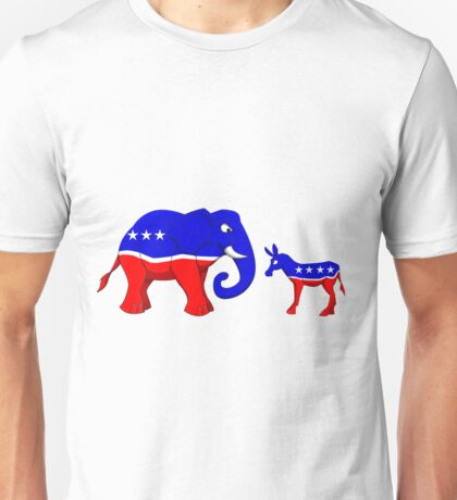 Elephant Vs. Donkey Unisex T-Shirt