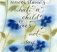 Mother child quote handwritten calligraphy art by Melissa Goza
