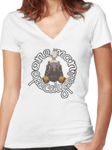 *ONE-MAN APOCALYPSE* Women's Fitted V-Neck T-Shirt