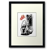 Wicked Boots Framed Print