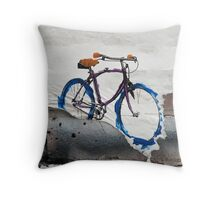 Paper Bicycle Throw Pillow