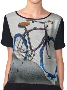 Paper Bicycle Chiffon Top