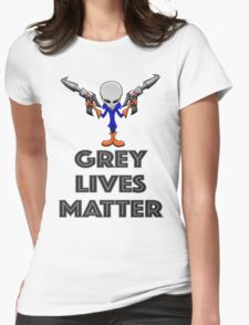 Grey Lives Matter Womens Fitted T-Shirt
