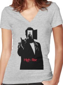 High Rise Movie 2016 Women's Fitted V-Neck T-Shirt
