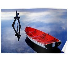 Red Dinghy Poster