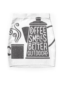 Coffee Smells Better Mini Skirt