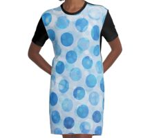 A Dip in the Ocean Graphic T-Shirt Dress