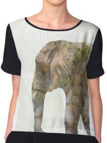 Elephant Palms Chiffon Top